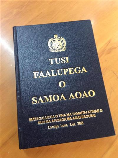 Tusi Faalupega O Samoa Aoao Isbn 487133 Miscellaneous