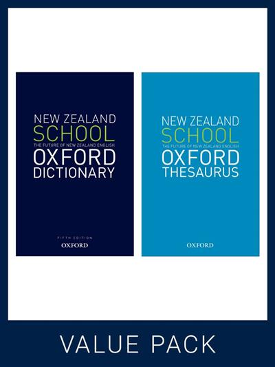 New Zealand School Oxford Dictionary and Thesaurus Pack by