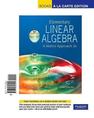 Elementary Linear Algebra A Matrix Approach Books A La