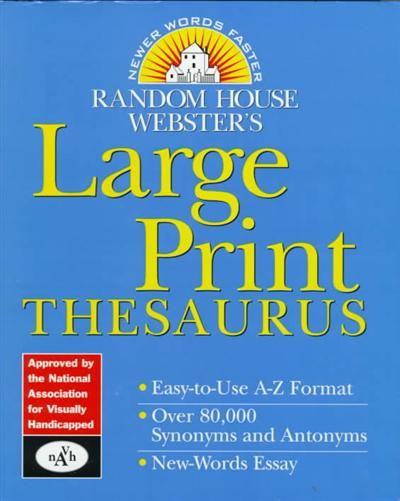 Random House Webster's Large Print Thesaurus by Random House