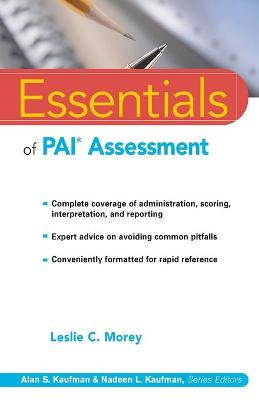 Essentials of PAI Assessment by Leslie C  Morey - ISBN