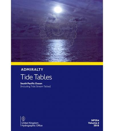 Admiralty Tide Tables Volume 4 2018 South Pacific Ocean Including
