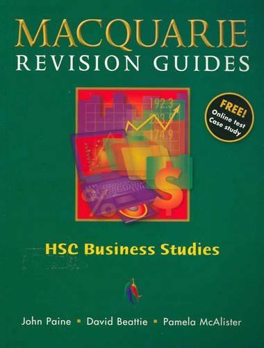 Hsc Business Studies by J  Paine - ISBN: 9780732988180 (Macmillan
