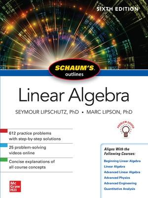 Schaum S Outline Of Linear Algebra Sixth Edition By Marc Lipson