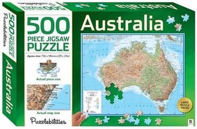 Australia Map Jigsaw.Puzzlebilities Australia Map 500 Piece Jigsaw Puzzle Isbn