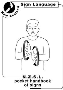 New Zealand Sign Language Pocket Book of Signs