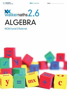 Walker Maths Senior 2.6 Algebra Workbook