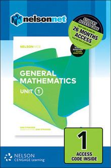 Nelson VCE General Mathematics Unit 1 (1 Access Code Card)