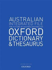 Australian Integrated School File Dictionary & Thesaurus