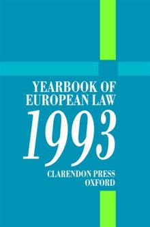 Yearbook of European Law: 1993