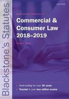 Blackstone's Statutes on Commercial & Consumer Law 2018-2019