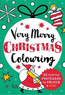 Very Merry Christmas Colouring: 50 Festive Postcards to Colour and Send