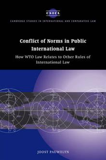 Cambridge Studies in International and Comparative Law: Series Number 29: Conflict of Norms in Public International Law: How WTO Law Relates to other Rules of International Law