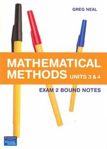 Maths Methods Dimensions: Units 3 & 4 : Exam Notes