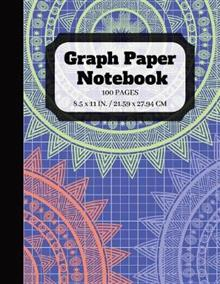 Graph Paper Notebook: Squared Graphing Paper Quad Ruled 5 squares per inch 100 pages 8.5 x 11 in. large print