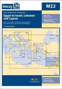 Imray Chart M22: Egypt to Israel, Lebanon and Cyprus