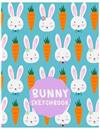 Bunny Sketchbook: Cute Sketchbook for Adults/Children Animals Lovers to Sketching, Large (8.5x11x Inch. 21.59x27.94 cm.) 120 Blank Pages (ORANGE&WHITE&PURPLE&BLUE Pattern)