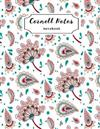 Cornell Notes Notebook: Floral Cornell Note Paper Notes Taking Journal for School Students College Ruled Lined Large Notebook, 8.5 x 11 in