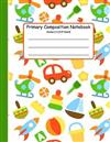 Primary Composition Notebook: Primary Composition Books K-2. Picture Space And Dashed Midline, Primary Composition Notebook, Composition Notebook for Kindergarten, Composition Notebook