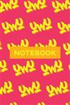 Notebook: Uwu Cuteness Overload Yellow Orange Typography Meme
