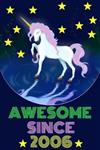 Awesome Since 2006: Magical Unicorn Notebook and Vintage Retro Happy Birthday Journal
