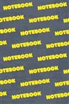 Notebook: Text Repeat Pattern Yellow Orange Abstract Rustic Patriotic