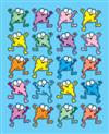 Colorful Froggies Shape Stickers