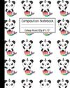 Composition Notebook College Ruled 120p 8 x 10 : Cute Pandacorn Mermaids - Blank Ruled Panda Notebook Journal for Girls Boys Adults School Kids Teachers and Students.