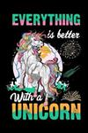 Everything is better with a Unicorn: Unicorn Blank comic book for kids 6-8 under $7, This is Unicorn comic book stetchbook and comic book box - Awesome Unicorn blank comic books for kids
