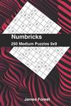250 Numbricks 9x9 medium puzzles: Numbricks puzzle books for adults
