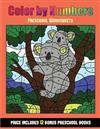 Preschool Worksheets (Color By Number - Animals): 36 Color By Number - animal activity sheets designed to develop pen control and number skills in preschool children. The price of this book includes 12 printable PDF kindergarten workbooks