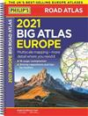 2021 Philip's Big Road Atlas Europe: (A3 Spiral binding)
