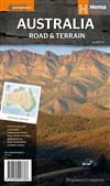 Australia Road and Terrain Map: 2014