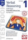 11+ Verbal Reasoning Year 5-7 CEM Style Testbook 1: Verbal Ability 20 Minute Tests