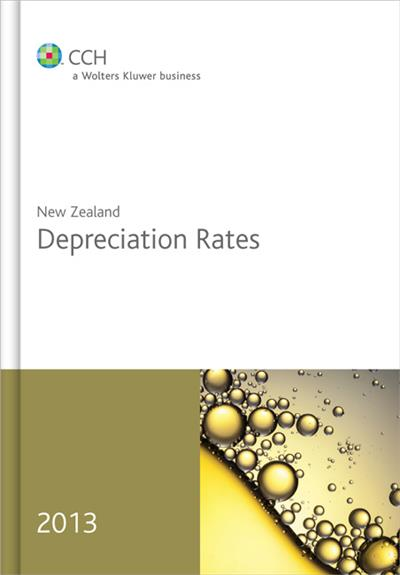 New Zealand Depreciation Rates 2013