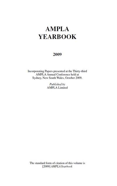 AMPLA Yearbook 2009