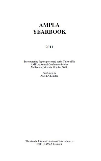 AMPLA Yearbook 2011