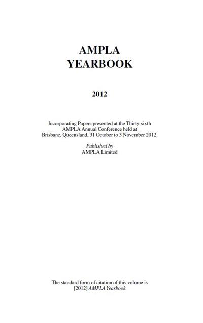 AMPLA Yearbook 2012