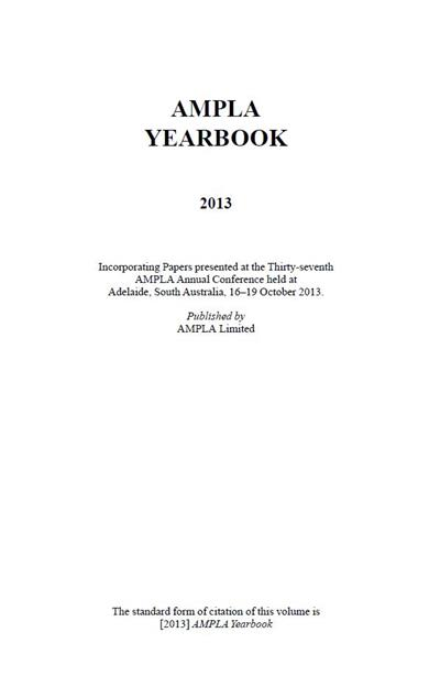 AMPLA Yearbook 2013