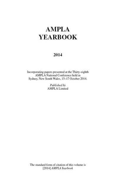 AMPLA Yearbook 2014