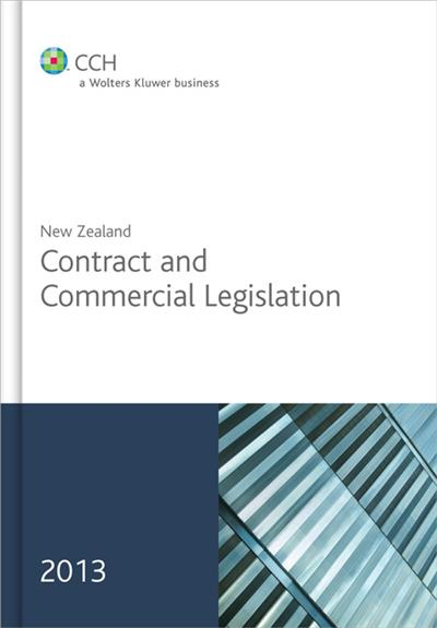 New Zealand Contract and Commercial Legislation 2013