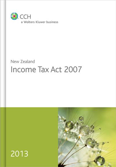 New Zealand Income Tax Act 2007 2013