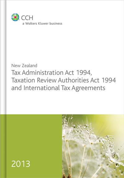 New Zealand Tax Administration Act 1994 2013