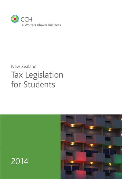 New Zealand Tax Legislation for Students 2014