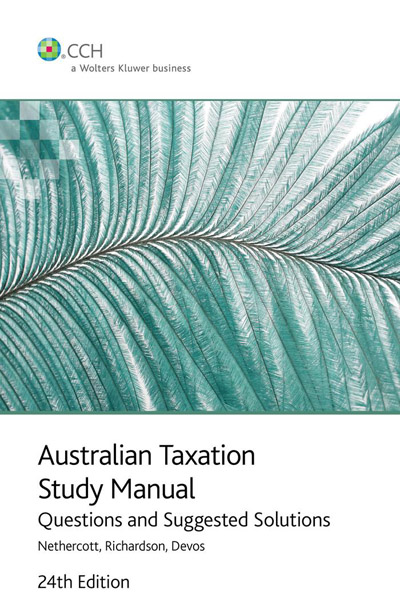 australian taxation study manual questions and suggested solutions pdf