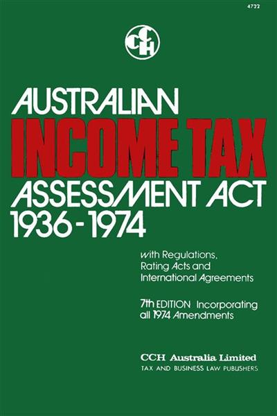 Australian Income Tax Assessment Act 1936-1974