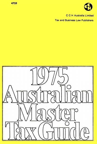 2017 cch australian master tax guide pdf