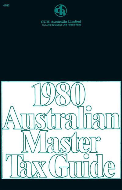 1980 Australian Master Tax Guide