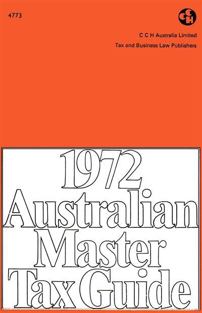 1972 Australian Master Tax Guide