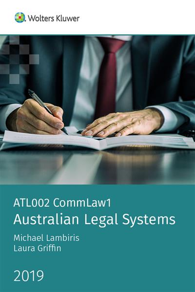 ATL002 CommLaw1: Australian Legal Systems